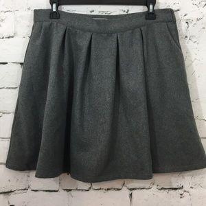 NWOT Modcloth wool blend lined gray skirt